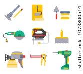construction vector worker... | Shutterstock .eps vector #1073800514