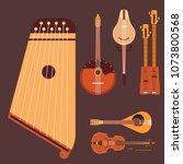 set of stringed musical... | Shutterstock .eps vector #1073800568