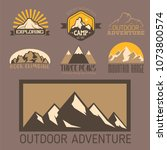 mountain vector silhouette... | Shutterstock .eps vector #1073800574