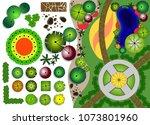 set of landscape elements....   Shutterstock .eps vector #1073801960