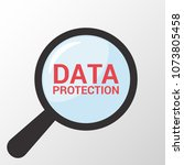 security concept  magnifying... | Shutterstock .eps vector #1073805458
