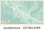 honolulu usa city map in retro... | Shutterstock .eps vector #1073811989