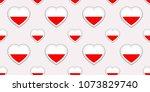 poland flag seamless pattern.... | Shutterstock .eps vector #1073829740
