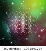 sacred geometry flower of life... | Shutterstock .eps vector #1073841239