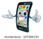Cell Phone Man Character Giving ...