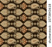 paisley pattern. seamless asian ... | Shutterstock . vector #1073843618