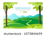 summer landscape background....   Shutterstock .eps vector #1073844659