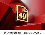 luxury golden file audio icon...