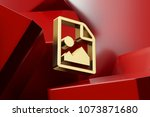 luxury golden file image icon...