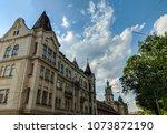 lviv old architecture cityscape ... | Shutterstock . vector #1073872190