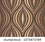 ogee pattern. seamless... | Shutterstock .eps vector #1073873789