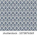 ikat seamless pattern. vector...   Shutterstock .eps vector #1073876369