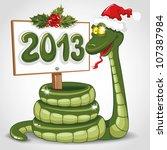 Cute Snake  Symbol Of 2013 Yea...