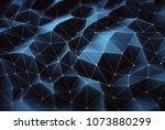 3d illustration. abstract image ... | Shutterstock . vector #1073880299