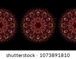Abstract Fractal Hot Flames...
