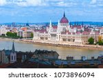panoramic cityscape view of... | Shutterstock . vector #1073896094