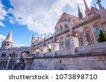 the matthias church... | Shutterstock . vector #1073898710