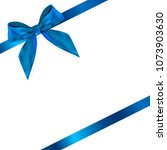 design product blue ribbon and... | Shutterstock . vector #1073903630