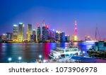 shanghai the bund lujiazui... | Shutterstock . vector #1073906978