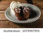 chocolate coulant or fondant... | Shutterstock . vector #1073907593