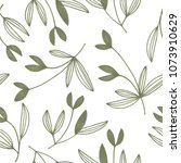 seamless floral pattern on... | Shutterstock . vector #1073910629