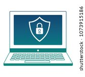 cyber security shield... | Shutterstock .eps vector #1073915186