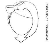 faceless girl with diadem bow... | Shutterstock .eps vector #1073915558