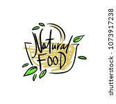 "logo ""natural food"" with a... 