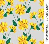 flowers pattern seamless vector ... | Shutterstock .eps vector #1073921204