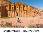 may 15  2017. bedouin at donkey ... | Shutterstock . vector #1073922926