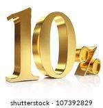 Gold Ten Percent Discount Symbol