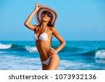 portrait of sexy beautiful... | Shutterstock . vector #1073932136