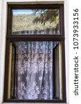 an open window with delicate... | Shutterstock . vector #1073933156