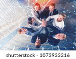business people putting their... | Shutterstock . vector #1073933216