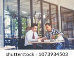business people negotiating a... | Shutterstock . vector #1073934503