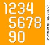 origami numbers set. vector. | Shutterstock .eps vector #107393774