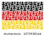 german state flag collage... | Shutterstock .eps vector #1073938166