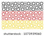 german flag mosaic created of...   Shutterstock .eps vector #1073939060