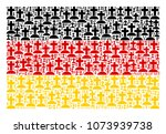 german state flag collage done...   Shutterstock .eps vector #1073939738