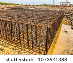 reinforced steel reinforcement... | Shutterstock . vector #1073941388