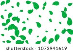 many cute green leaves of... | Shutterstock .eps vector #1073941619