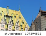 detail of the roof of chateau... | Shutterstock . vector #107394533