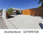 modern australian house front...   Shutterstock . vector #107394728