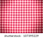 Red Tablecloth Background With...