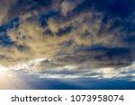white  grey heavy fluffy ... | Shutterstock . vector #1073958074