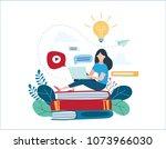 education online illustration... | Shutterstock .eps vector #1073966030