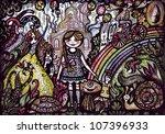 illustration of girl | Shutterstock . vector #107396933