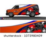 van graphic vector. abstract... | Shutterstock .eps vector #1073980409