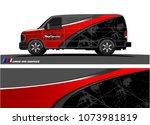 van graphics.abstract curved... | Shutterstock .eps vector #1073981819