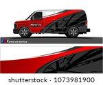 van graphics.abstract curved... | Shutterstock .eps vector #1073981900